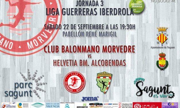 Jornada 3 Liga Guerreras Iberdrola, 22-09-2018, 19:30 h: Bm Morvedre – Helvetia Bm Alcobendas
