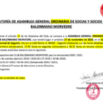 Convocatoria para la Asamblea General Ordinaria